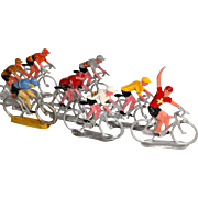 Tour de France 1940-1960 Metal Racing Cyclists Toys Diorama