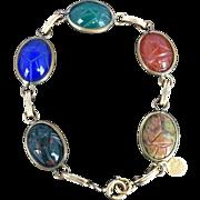 1950's 1/20th 12K Gold Filled Scarab Bracelet