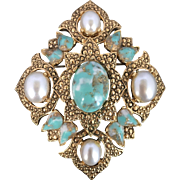 1950's-1960's Sarah Coventry Remembrance Brooch