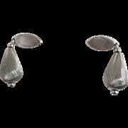 1970s Sarah Coventry Satin Clip Earrings