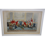 Old English Colorized Etching