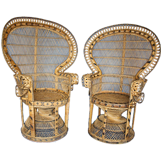 Pair of Peacock Chairs c.1960