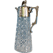 Victorian Silver and Cut Glass Claret Jug c.1855
