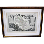 Set of Two French Department Maps c.1854