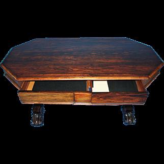 Regency Rosewood Library Table/Desk c. 1860
