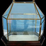 Vintage Brass & Glass Terrarium c.1920-30