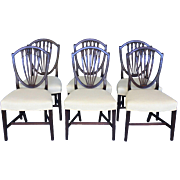 Set of Six Hepplewhite Shield Back Chairs. c.1790