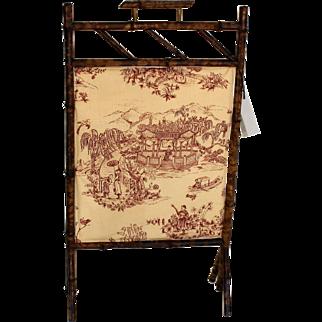 English Bamboo,  Fireplace Screen c.1890-1900