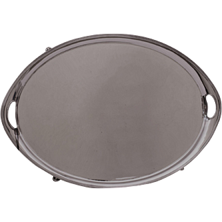Elkington Oval Silver Plate Serving Tray c.1900