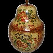 Eng. Pear tea caddy c.1810