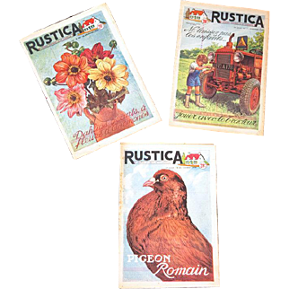 1950s French Country Living Magazines - 3 Editions of Rustica - Paper Ephemera Print