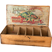 1920s Seed Retail Display Box - Farmhouse Decor - Heirloom Seeds - Reliable Seeds - Sioux City