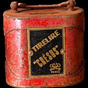 1900s French Children Money Box - Tirelire Cresus - Cast Iron - Rusty Partina