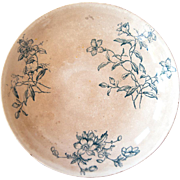 Early 1900 French Ironstone and Transferware Cake Stand - Rustic Country