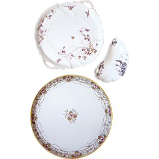 Vintage Porcelain Platters - Shabby Chic - Limoges, Haviland and Japan