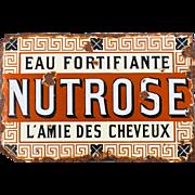 Rare 1909 French Advertising Porcelain Enamel Sign - Hair Beauty Treatment