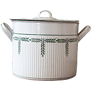 1930s French Enamel Stock Pot - BB Frères Torseine - Country Decor