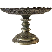 Antique Turn of the Century Tazza Comport, Louis Sherry NYC Restaurant provenance