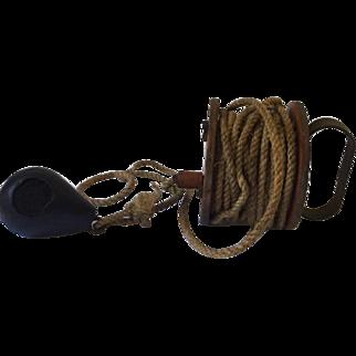 Vintage nautical rope winder, boating depth finder
