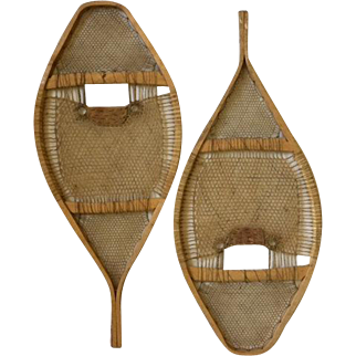 Pair of small vintage snowshoes, excellent