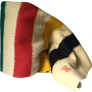 Authentic Hudson's Bay 3 1/2 point striped wool blanket