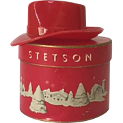 Vintage Christmas Stetson gift certificate red hat in original box