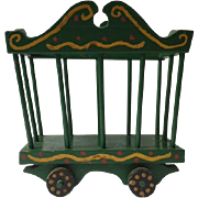 Vintage folk art circus wagon in old paint