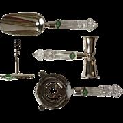 4 piece Shannon Irish lead crystal bar set