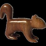 Folk art vintage carved squirrel