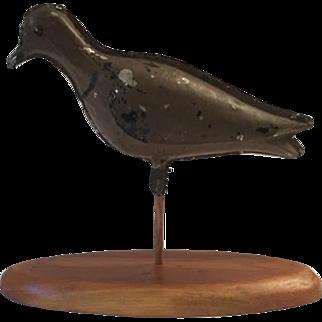 Antique tin shore bird decoy