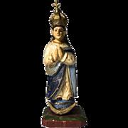 Virgin Mary santos carving, South America