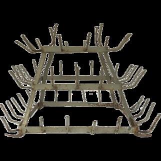 French herisson bottle drying rack