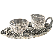 Waterford crystal sugar and cream server