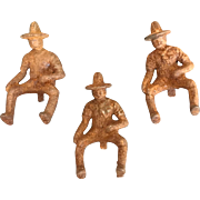 Vintage Cast Iron Toy Cowboy