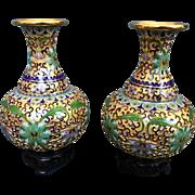 Vintage Chinese Cloisonné Vases