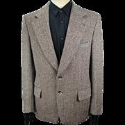 Vintage original Harris Tweed sports jacket, Herringbone pattern blazer size 25 (quarter size US 40/EU 50)