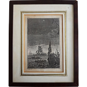 Antique Dutch copper engraving of ships at sea by Simon Fokke (Amsterdam 1712-1784)