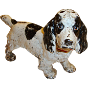 Vintage Hubley Cast Iron Cocker Spaniel Dog Bookend, Paperweight or Doorstop, Circa 1920's to 1930's