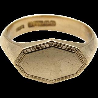 Art Deco 9ct Gold Signet Ring