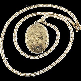 Vintage 9ct Gold Locket Necklace