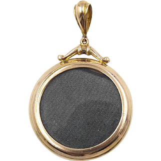 Antique 9ct Rose Gold Photo Locket Pendant