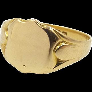 Edwardian 18ct Gold Signet Ring