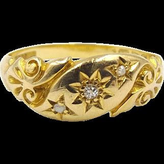Edwardian 18ct Gold Diamond Ring
