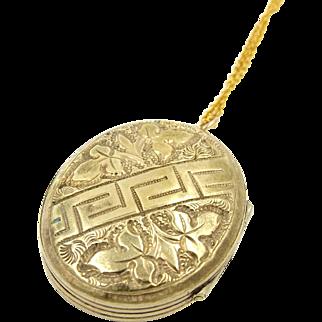 Antique Gold Tone Oval Locket