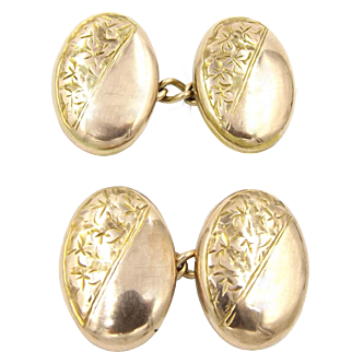 Edwardian 9ct Gold Cufflinks