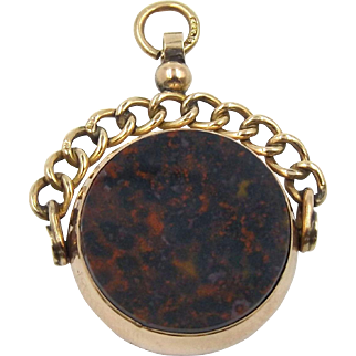 Victorian 9ct Gold Spinning Fob Or Pendant