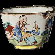 Chinese Canton Enamel 18/19th century Mandarin Tea Bowl