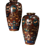 Amazing Pr, Chinese Qing Dynasty Cloisonne Vases