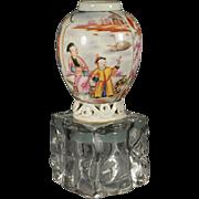 Fine Chinese Export 18th century Mandarin teapoy, Qianlong (1736-95)