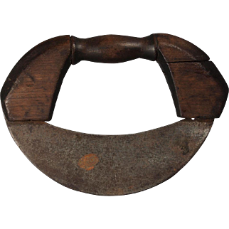 19th century Wood and hand forged iron Chopper